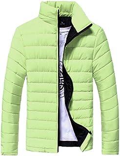 HX fashion Giacca Invernale Da Giacca Trapuntata Giacca Uomo Da Esterno Taglie Comode Giacca Da Esterno Calda Giacca Stand...