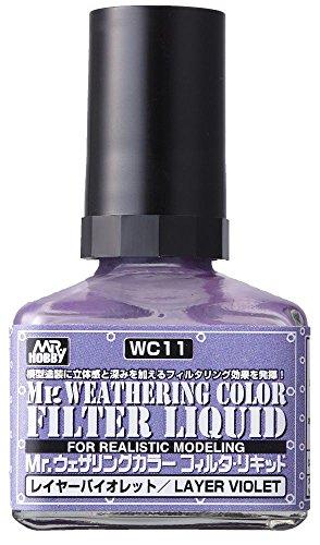 GSIクレオス Mr.ウェザリングカラー フィルタ・リキッド バイオレット 40ml ホビー用塗料 WC11
