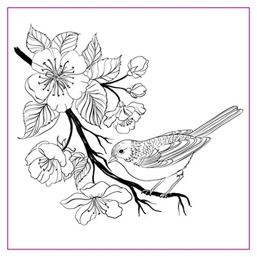 Flower Bird DIY Silicone Clear Stamp Cling Seal Scrapbook Embossing Album Decor