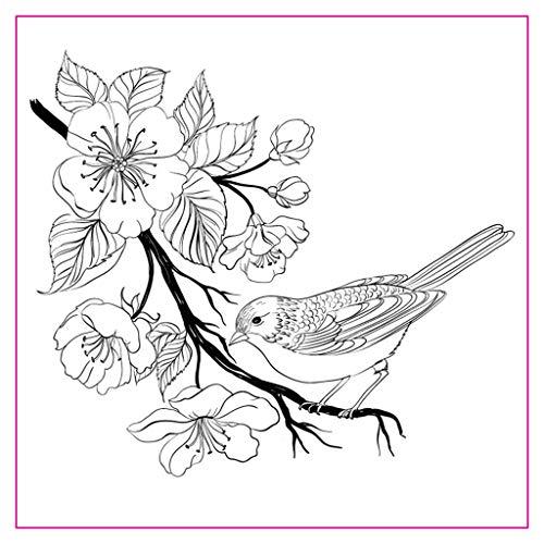 Koehope Clear stempel bloemen vogel dieren transparante stempel voor Kerstmis bruiloft kaarten maken siliconen postzegels DIY scrapbooking embossing kaart decoratie