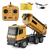 RC Dumping Truck Remote Control Engineering Van Loader, 1/14 Scale 2.4GHz RC Remote Control Dump Truck Electronics Hobby Toy with Sound and Lights