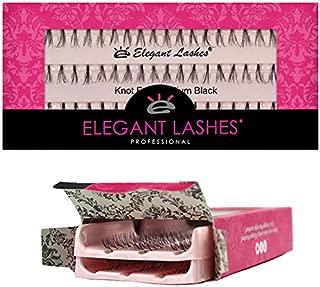 Elegant Lashes Knot-Free Flare Medium Black Individual Eyelashes (Double Pack - 2 Trays)