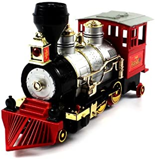 Velocity Toys Rocky Mountain Golden Line Express Bump 'N Go Toy Train W/ Authentic Horn Sound & Smoke