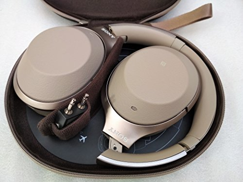 Sony Noise Cancelling Headphones WH1000XM2: Over Ear Wireless Bluetooth Headphones with Microphone - Hi Res Audio and Active Sound Cancellation - Gold (2017 model)