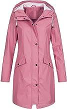 Dames lange waterdichte en winddichte jas oversized dames solide regenjas outdoor hoodie waterdichte lange mantel mantel w...