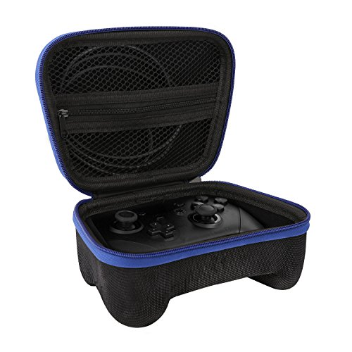 MoKo Kompatibel mit Nintendo Switch Pro Controller Tasche Case, Reisen mit Hartschalenbox Halter Schutzhülle für Switch Pro Controller und Xbox One Controller - Schwarz und Blau
