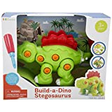KidSource Build-A-Dino - Build and Take Apart Dinosaur Toy - Construction Play Set with Screwdriver Tool - Promotes Early STEM Learning for Ages 3 and Up (Stegosaurus)