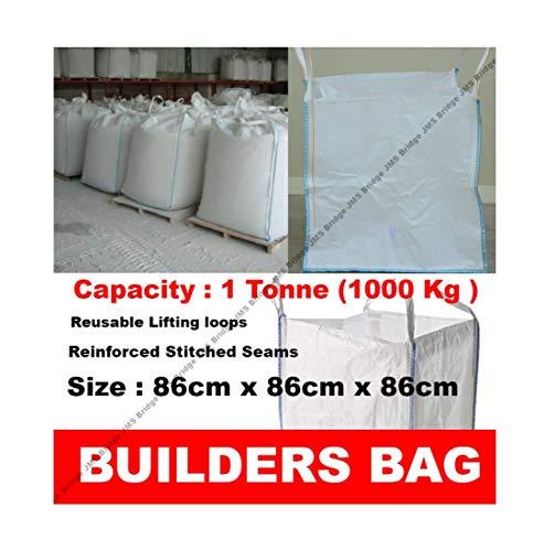 BUILDERS BULK BAG GARDEN WASTE 1 TONNE TON JUMBO BAGS STORAGE SACK (Pack of 25)