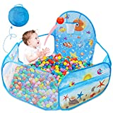 Dressbar Kids Ball Pit with Basketball Hoop Pop Up Children Play Tent, Ocean Pool Baby Playpen ,Portable Toys Gifts for Girls Boys Toddlers 2 3 4 5 6 12 Months Year Old (Balls not Included)
