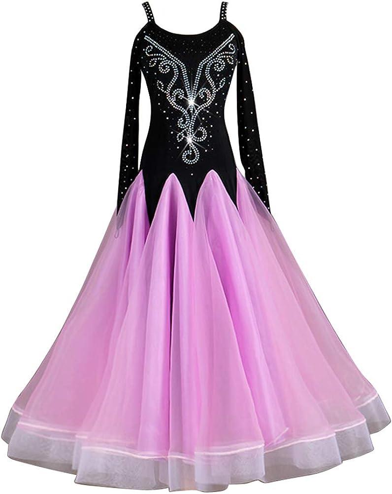 Lowest price challenge NAKOKOU Women's Ballroom Brand new Dance Dress Long Sleeve