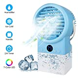 Personal Air Cooler Conditioner Mist Humidifier Fan, 4 in 1 Timing 7 Color