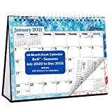 CRANBURY Small Desk Calendar 2020-2021 (Seasons, 8x6'), Cute Desktop Standing Flip Monthly Calendar on Easel, Use Now to December 2021 as Academic Calendar 2020-2021 and Full Year 2021 Calendar