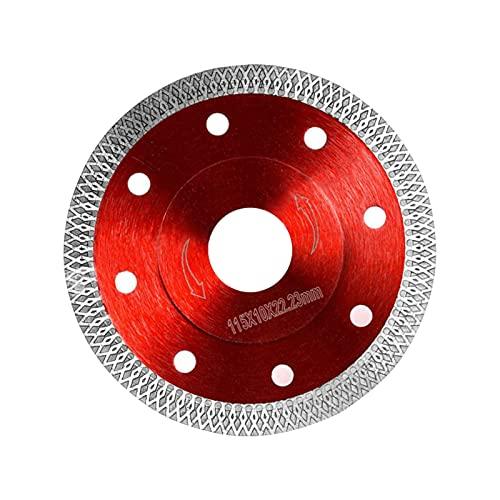 Disco diamantado de 115 mm de gres porcelánico profesional sierra circular corte en seco con corte en húmedo para gres porcelánico, granito, cerámica, cuarcita, mármol (rosa-115 mm)
