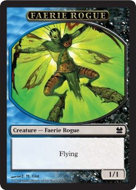 Magic The Gathering - Faerie Rogue Token (14) - Modern Masters