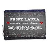LolaPix Cartera Personalizada. Regalos para Profesores. Cartera Personalizada. Varios diseños. Tiza