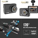 CAR AUTO DVR Camera, 2018 Smart Tech 2.5' Screen Full HD 1080P60 170 Wide Angle Dashboard Camera, Car DVR Vehicle Dash Cam with G-Sensor, WDR, Loop Recording, Balck