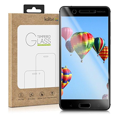 kalibri Protector de Pantalla Compatible con Nokia 5 - Cristal Templado 3D Curvado en Negro