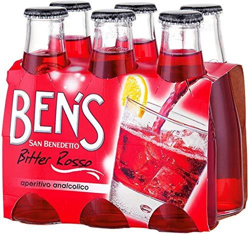 24x San Benedetto Ben's bitter rosso aperitivo 100ml Aperitif ohne Alkohol bitter
