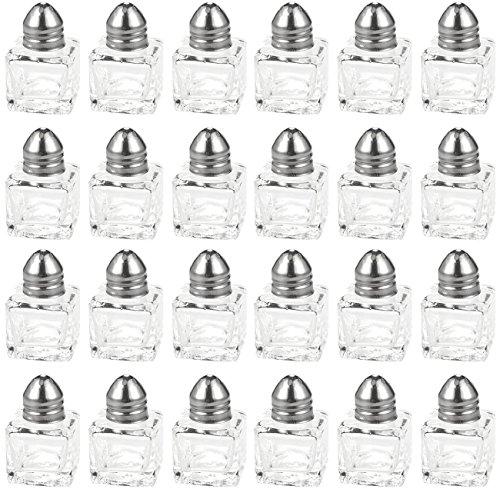Salt and Pepper Shakers Set - 24-delige Set van Salt Pepper Shakers, Glas Keukengerei, Mini Zout en Peper Houders, Transparant, Houdt 0,5 Oz