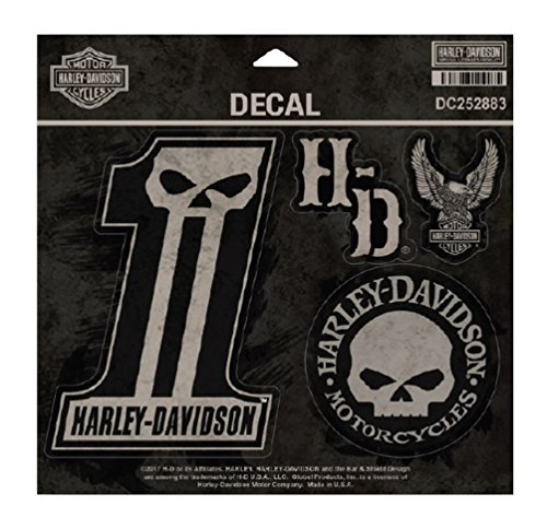 Harley-Davidson Dark Custom Decals, MD 5 Per Sheet, 4 x 5.5 inches DC252883