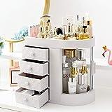 UFLIZOGH Organizador de Maquillaje Acrílicos con 4 Cajones Organizadores Cosméticos Cajas para Baño Dormitorio Tocador 30 x 28 x 20 cm (Blanco)