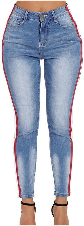 Abetteric Women's PlusSize High Waist Cowboy Wide Stripe Bodysuit
