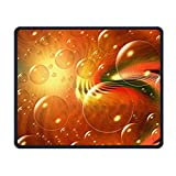 Portable Gaming Mouse Pad Bubble Art Lights Comfortable Non-Slip Base Durable Stitched Edges for Laptop Computer & PC 7.08 X 8.66 Inch, 3mm Thick