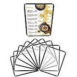Belle Vous Funda para Cartas Restaurantes Pliegue Doble A5 (Pack de 10) Cartas para Restaurante Soporte para Menú Estilo Americano con Protectores de Esquina - para Bares, Cafés, Alimentos y Bebidas