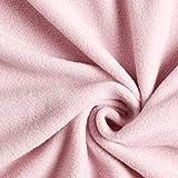 Fabulous Fabrics Fleece rosé, Uni, 150cm breit –