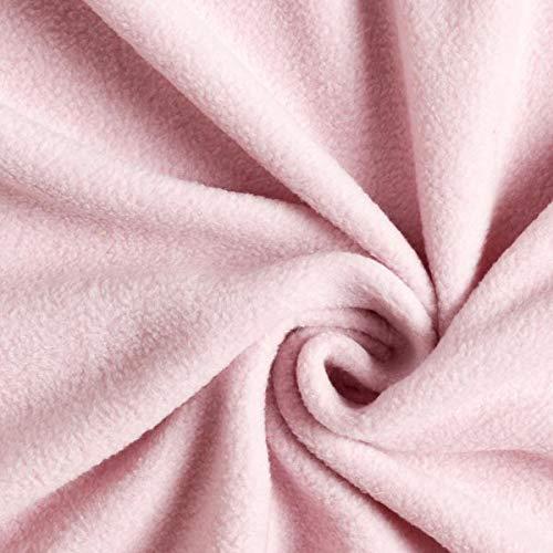 Fabulous Fabrics Fleece rosé, Uni, 150cm breit – Fleece zum Nähen von Tagesdecken & Nachtwäschen – Meterware erhältlich ab 0,5 m