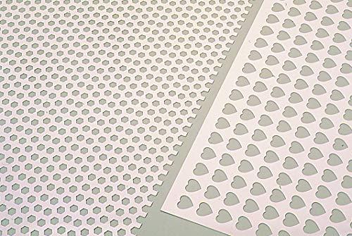 Martellato Plastique Hexagonal Motif décoration Grill, 60 x 40 cm, Blanc, 60 x 40 x 30 cm