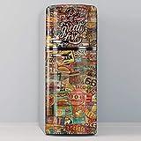 Vinilo Adhesivo Decorativo para Nevera, Especial Libre De Burbujas, Great Love (Vintage) (60x185cm)
