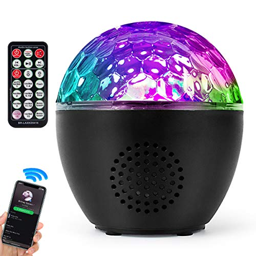 Disco Ball Lights Mini DJ Club Disco KTV Party Bar RGB Color LED Ball Laser Projector Stage Lights with Bluetooth Speaker Amp for Room Dance Parties Birthday Karaoke Xmas