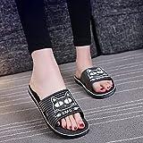 ypyrhh Planas Caminar Ortopedicas Zapatos,Zapatillas Antideslizantes de tamaño Grande, Fondo Suave-Negro_40-41,Baño Sandalia Suela De Suave