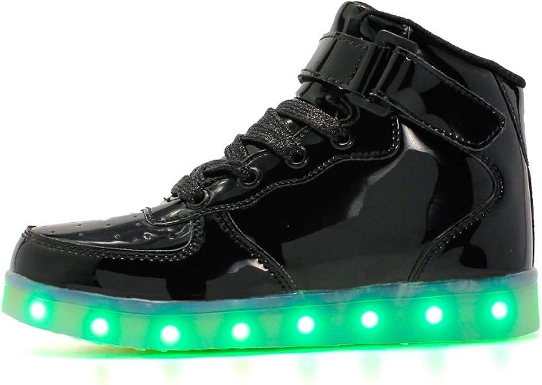 USB Charging shoes Luminous shoes Ghost Dance LED colorful Lighting shoes (color   J, Size   45EU)