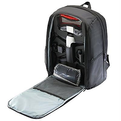 Rantow Protective Carry Backpack for Parrot Bebop 2 FPV / Bebop 2 Power FPV / Bebop 2 Adventurer Quadcopter Waterproof Transport Storage Bag Case Black