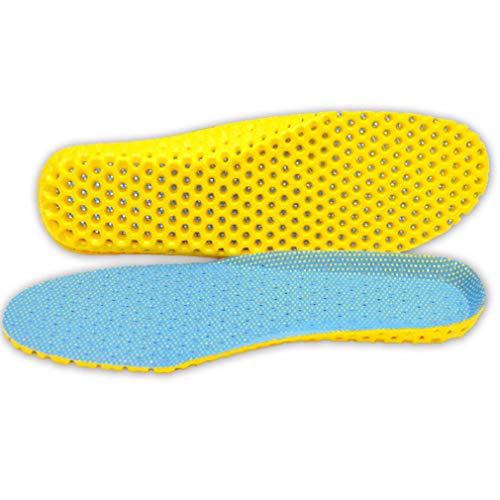 JIE Plantillas Deportivas Zapatos Almohadilla Silicona Suave Transpirable Absorber el Sudor Inserciones de Calzado Azul