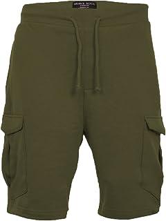 BRAVE SOUL Mens Cotton Rich Gym Lounge Shorts Auden