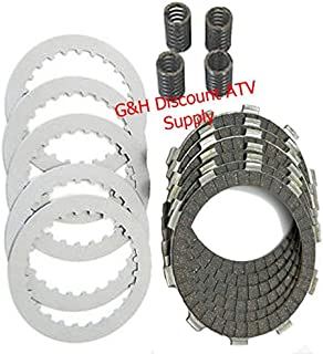 Clutch Friction Disks Plates Springs Rebuild Kit Set for the 1988-2000 Honda TRX 300 Fourtrax