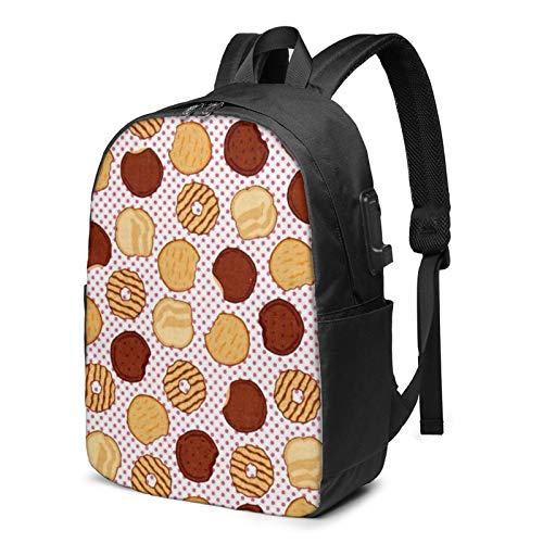 Riley Blake Girl Scouts Cookies Laptop Backpack 17 Inch with USB Charging Port Computer Bag