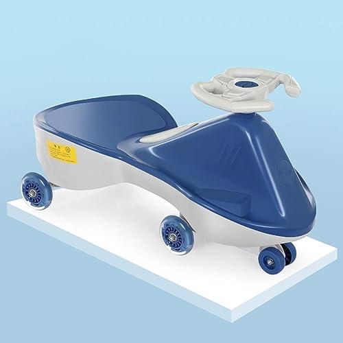 Kinder drehen Auto Tragbare Babyauto-Stummkompression und verschlei ste Vollverpackung Anti-überschlag-Multifunktionskinder Twist-Auto (71 × 30,5 × 39 cm) (Farbe   Royal Blau)