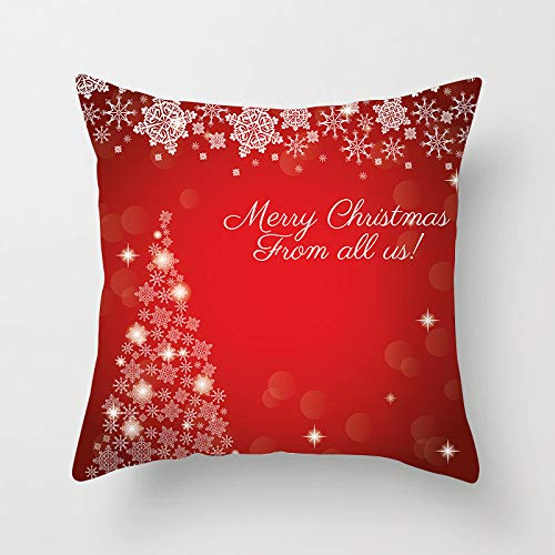 Qishi Merry Christmas decoration square pillowcase sofa pillowcase 45 * 45cm