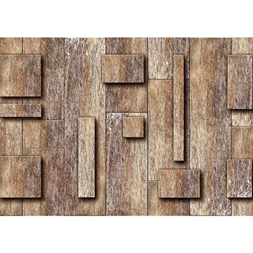 Vlies Fototapete PREMIUM PLUS Wand Foto Tapete Wand Bild Vliestapete - Holzmuster 3D Holzwand Holz Muster - no. 2790, Größe:208x146cm Vlies