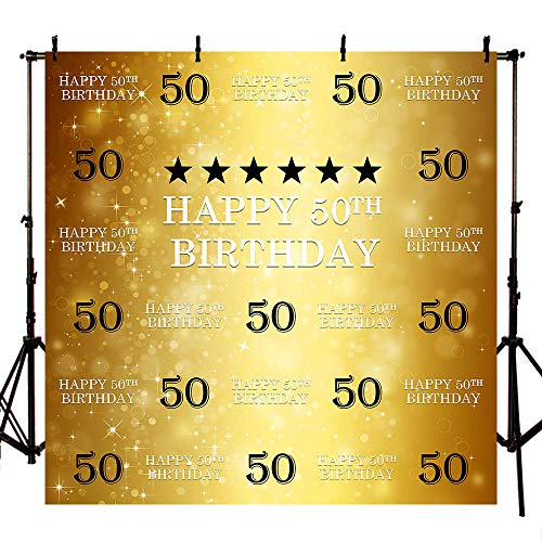 MEHOFOTO Fondo para fotografía de 50 cumpleaños de 2,4 m x