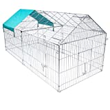Elightry Jaula para Conejos Conejeras Hamster Cobayas Gallinero Jaula Exterior Recinto Animales Pequeños para Jardines y Patios 220 * 103 * 103 cm XTSL0010