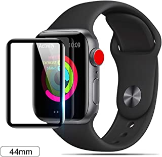 Letang HD Apple Series Watch 4 (44mm) Screen Protector, [Easy Install] 3D Curved Anti-Bubble Ultra HD Tempered Glass Case Friendly Screen Protector for Apple Series Watch 4 (44mm)