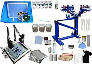 Floor Type 4 Color 1 Station Screen Printing Kit for Starter Screen Printing Press
