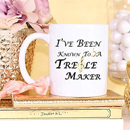 LECE Ik ben bekend als een Treble Maker, Muzikant Mok, Treble, Muziek Leraar, Muziek, Band Director, Band Director Gift, Geen Treble, Piano, Mok