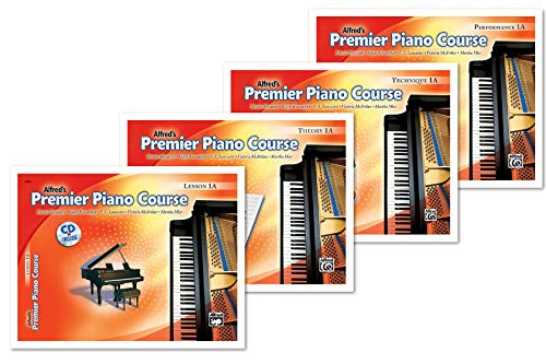Alfred's Premier Piano Course Level 1A Books Set (4 Books) - Lesson 1A, Theory 1A, Technique 1A, Performance 1A