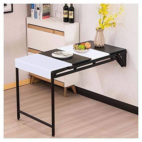 HLZY Wall-mounted Drop-leaf Table Space Saving Laptop Computer Desk Workstation,Small Spaces, Convertible Study Desk